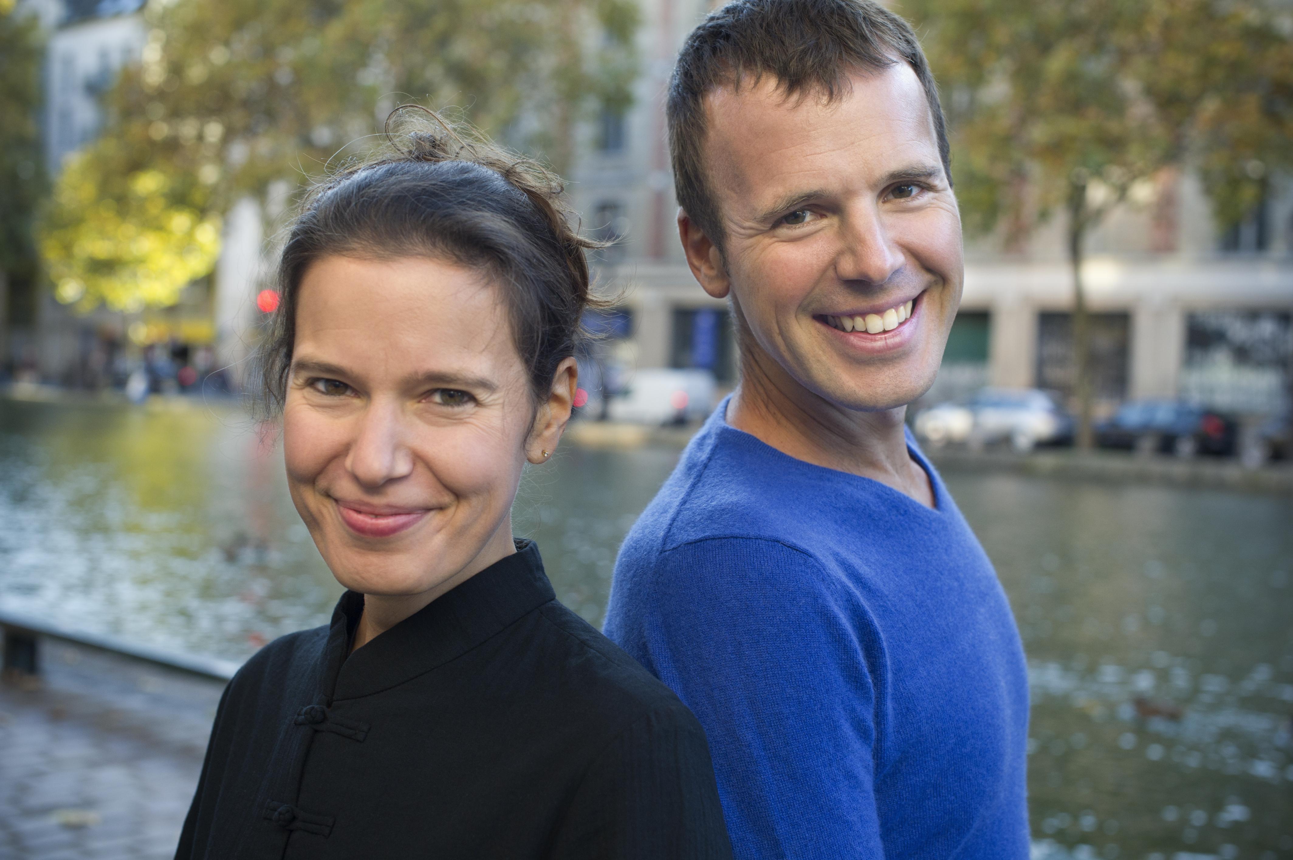 Avec Angélique Mauiilon © J-B Millot